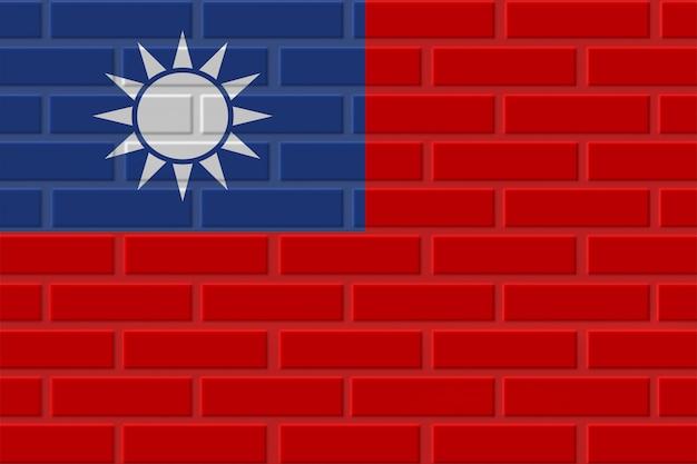 Ilustração de bandeira de tijolo de taiwan