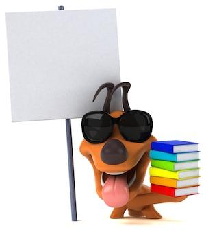 Ilustração de cachorro divertido