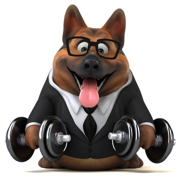 Ilustração de cão pastor alemão