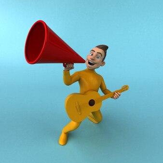 Ilustração de cara amarelo divertido