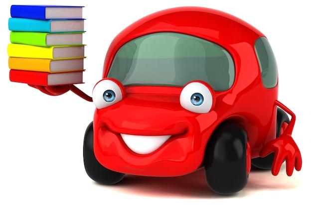 Ilustração de carro divertido