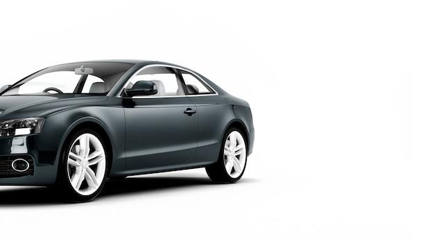 Ilustração de carro esportivo de luxo novo genérico isolada em uma superfície branca