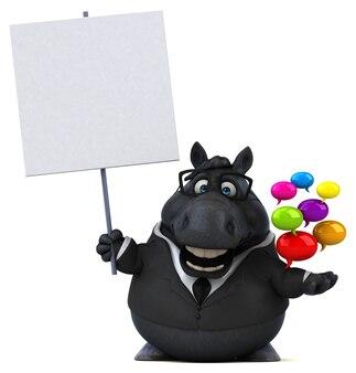 Ilustração de cavalo divertido