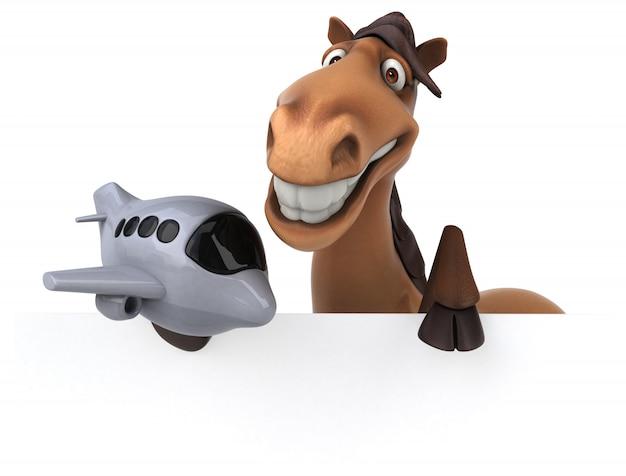 Ilustração de cavalo engraçado