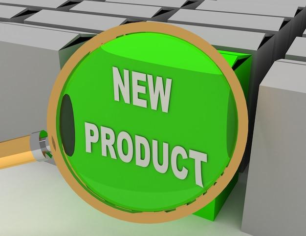 Ilustração de concept.3d de novo produto