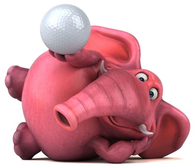 Ilustração de elefante rosa