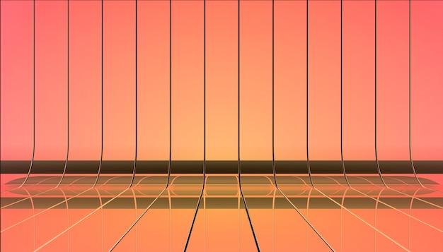 Ilustração de fitas de cor.