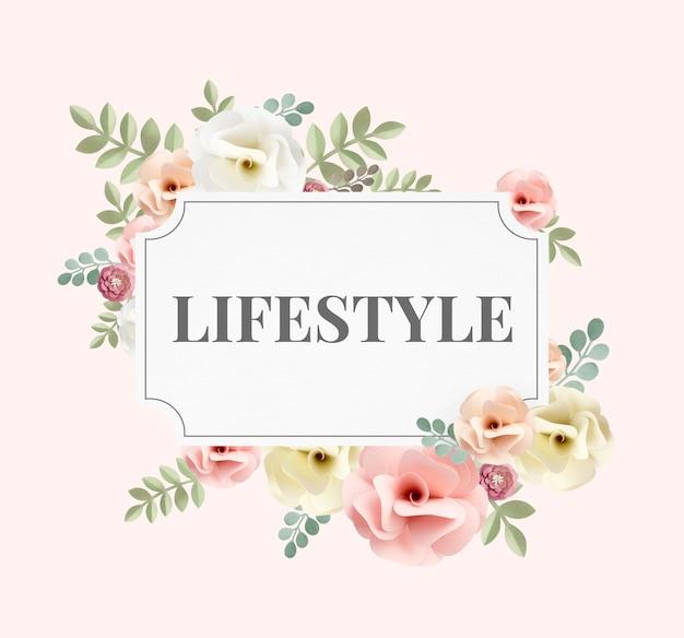 Ilustração de flor de comportamento de estilo de vida