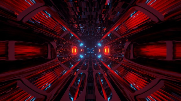 Ilustração de formas geométricas com luzes laser coloridas