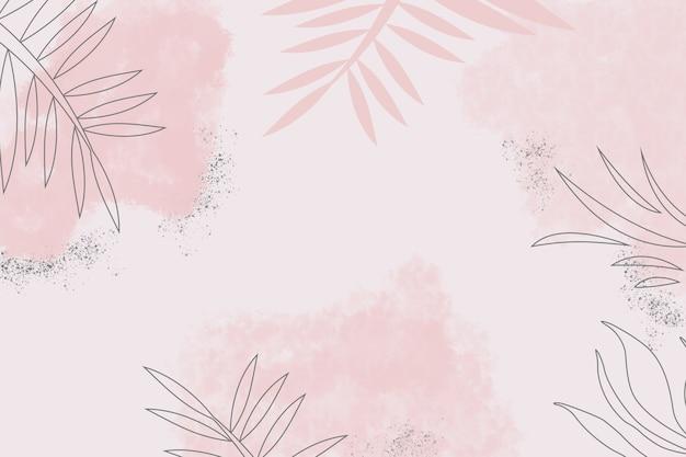 Ilustração de fundo abstrato de cor pastel com natureza