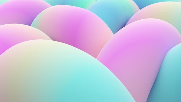 Ilustração de fundo abstrato de formas curvas há coordenação de linhas coloridas