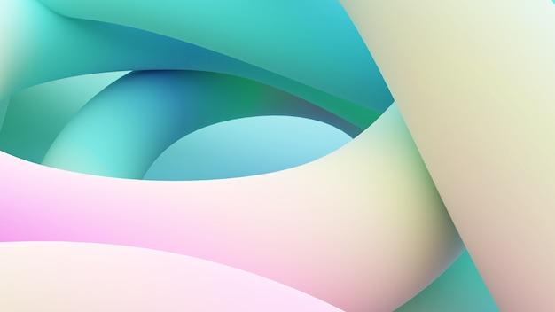 Ilustração de fundo abstrato de linhas animadas, há uma coordenação de linhas coloridas, renderização 3d