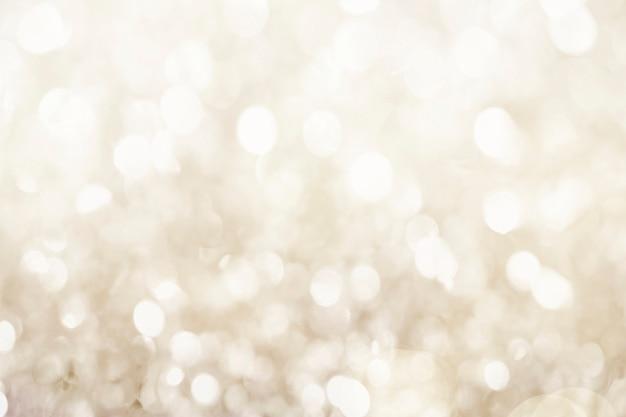 Ilustração de fundo com padrão bokeh em ouro branco