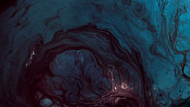 Ilustração de fundo com padrão de aquarela grunge abstrato azul