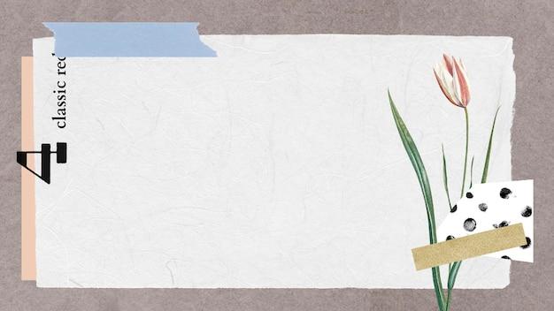 Ilustração de fundo de colagem botânica vintage