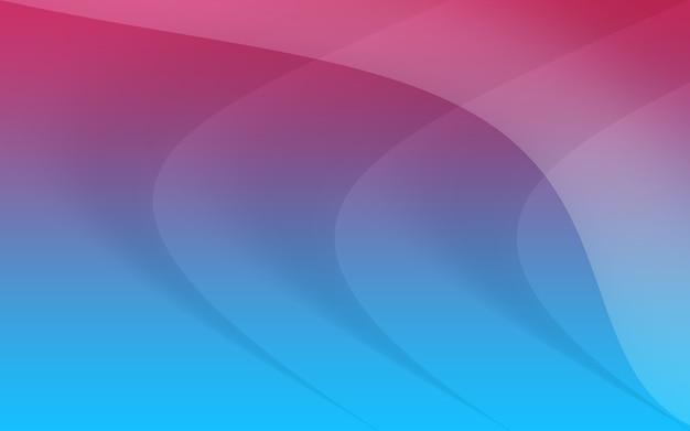 Ilustração de fundo de curva abstrato azul rosa