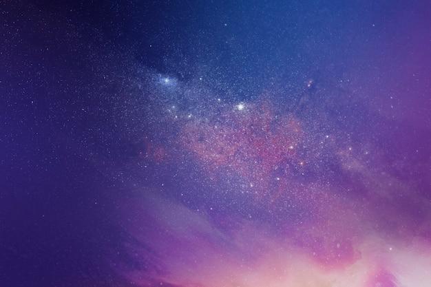 Ilustração de fundo de galáxia arroxeada