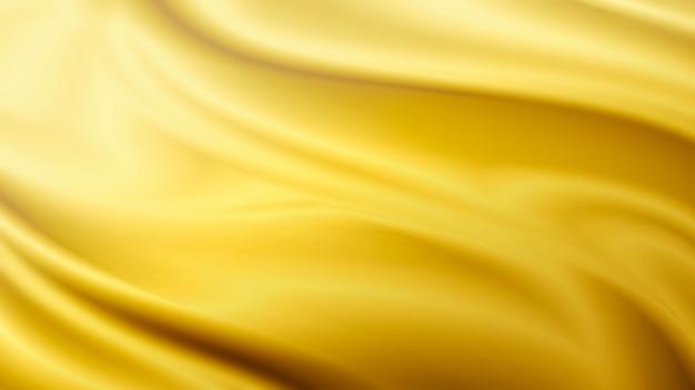 Ilustração de fundo dourado de tecido luxuoso