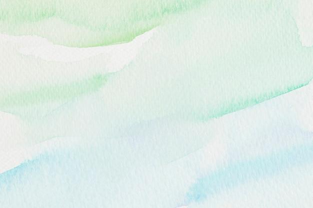 Ilustração de fundo verde e azul em estilo aquarela