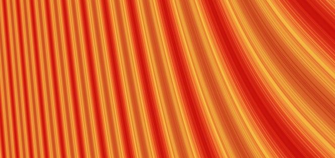 Ilustração de fundo vermelho laranja linhas perspectiva