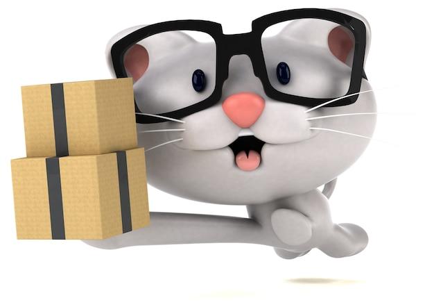 Ilustração de gato divertida
