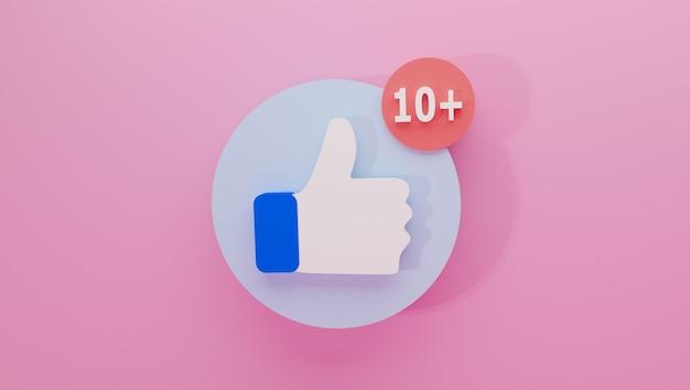 Ilustração de ícone como estilo plano minimalista isolado com notificação