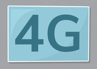 Ilustração de ícone de comunicação de rede 4G
