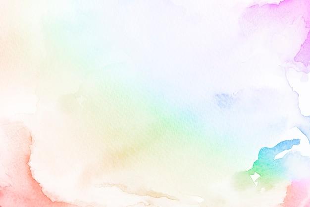 Ilustração de ilustração de fundo em estilo aquarela gradiente de arco-íris