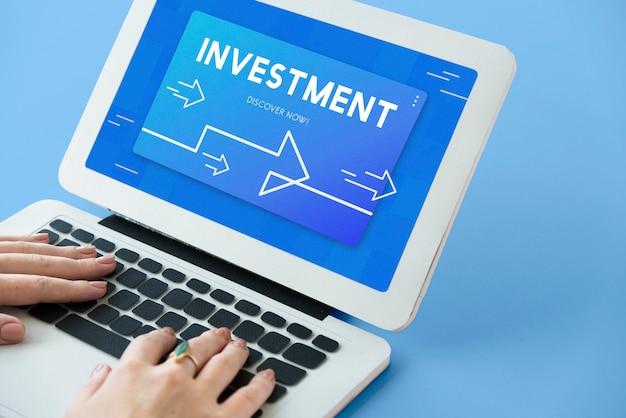 Ilustração de investimento em gestão de estratégia empresarial