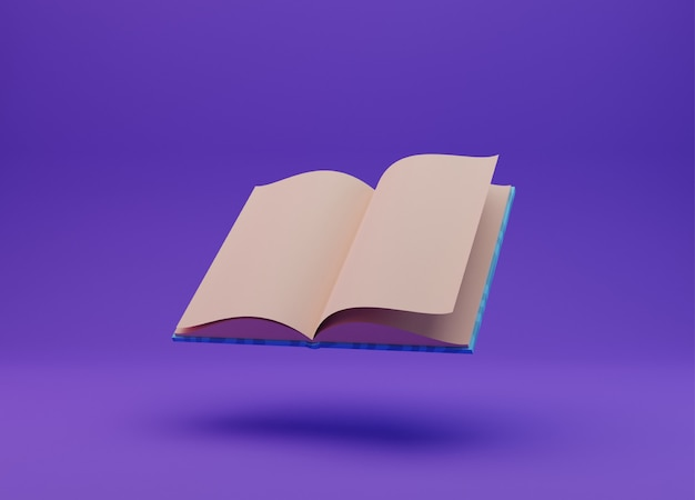 Ilustração de livro, renderização em 3d
