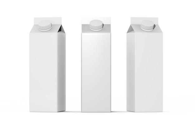 Ilustração de maquete de conjunto de caixa de papel de bebida