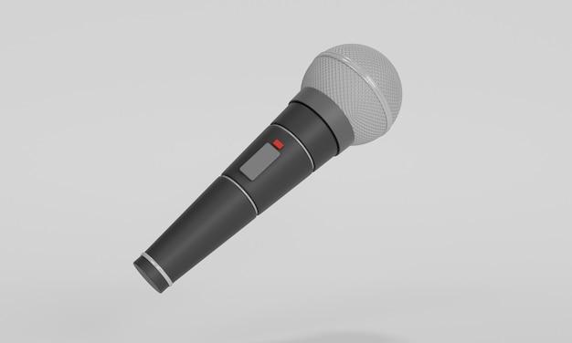 Ilustração de microfone de karaokê 3d com design isolado