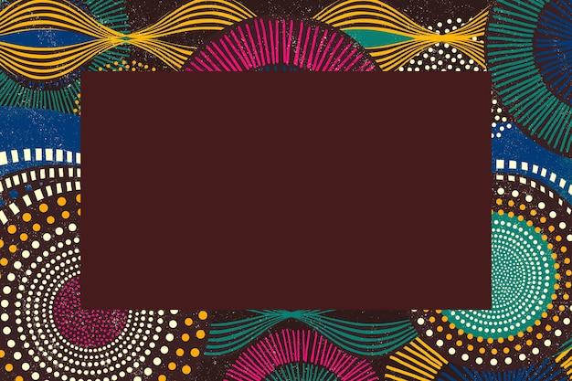 Ilustração de moldura étnica com padrão tribal