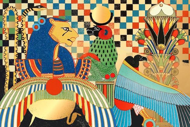 Ilustração de padrão de design egípcio antigo