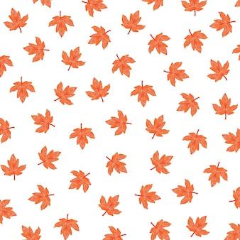 Ilustração de padrão de outono com bordo vermelho
