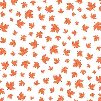Ilustração de padrão de outono com folhagem vermelha