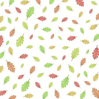 Ilustração de padrão de outono com folhas