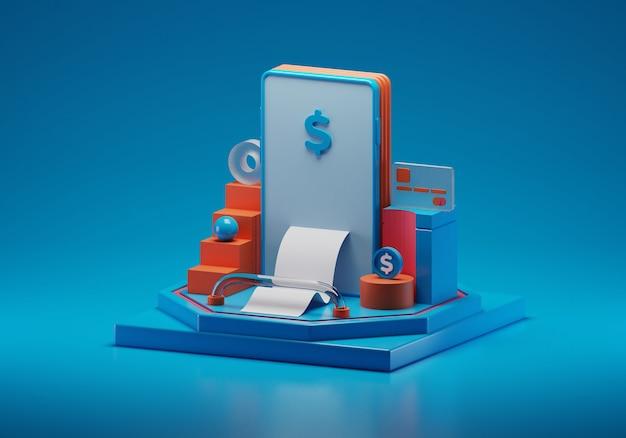 Ilustração de pagamento online em estilo isométrico