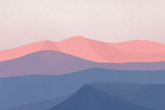 Ilustração de paisagem de fundo de montanhas durante o anoitecer