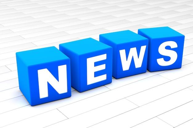 Ilustração de palavra de notícias
