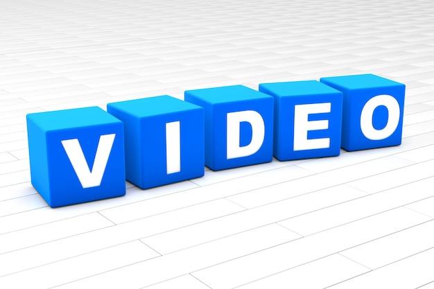 Ilustração de palavra de vídeo