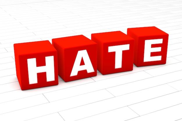 Ilustração de palavras de ódio