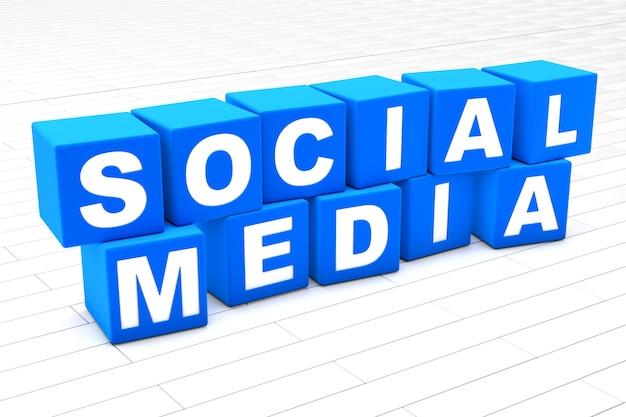 Ilustração de palavras em redes sociais
