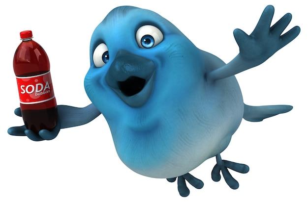 Ilustração de pássaro azul