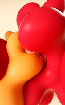 Ilustração de renderização 3d. abstrato líquido arte suave.