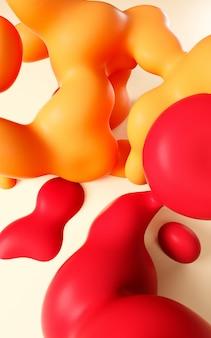 Ilustração de renderização 3d. arte líquida fluida lisa abstrata.