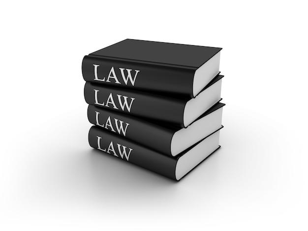 Ilustração de renderização de livros de direito