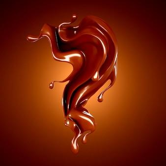 Ilustração de respingo de chocolate
