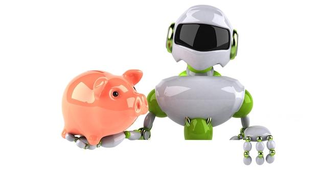 Ilustração de robô verde