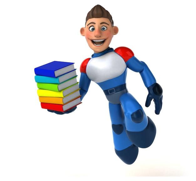 Ilustração de super-herói moderno